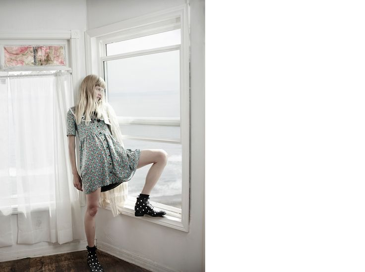 Saint Laurent Schoolgirl Dress In Multicolor Prairie Printed Viscose | YSL.com