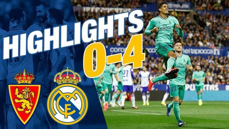 RESUMEN Zaragoza 04 Real Madrid TODOS LOS GOLES en