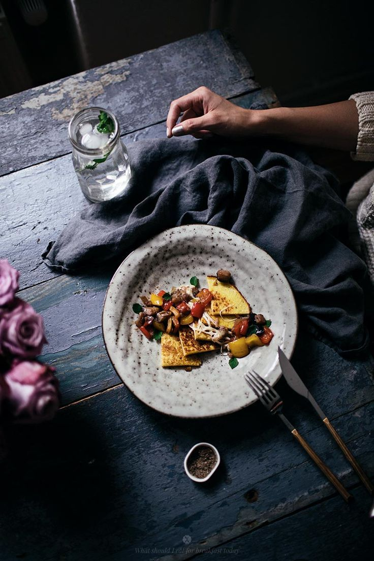 Millet and Corn Pancakes with Aubergine and Mozzarella Topping by Marta Greber