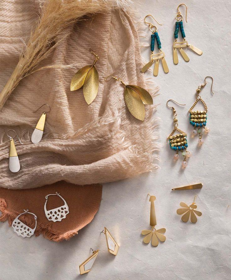 Fair Trade, Earrings, Peru, India, Vietnam, Metallic Teardrop Earrings, Terrace Earrings, Parlor Earrings, Edgewise Earrings, Leather Leaf Earrings, Anthology Earrings, Illusion Earrings, Noonday Collection.