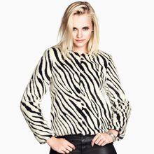 2015 kısa kadınlar için moda yapay kürk mantolar sonbahar kış sıcak yumuşak zebra çizgili baskı bayanlar faux kürk ceket XXL D4007(China (Mainland))