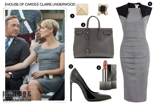 """""""House of Cards"""", Claire Underwood   superwoman Power Dressing"""