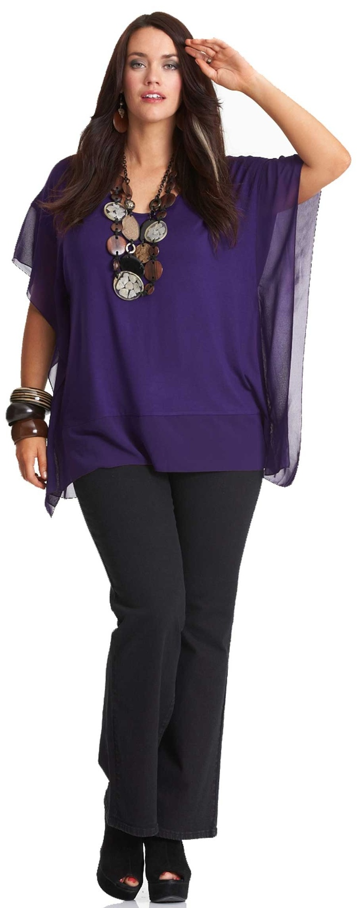 Emme Fijian Square Top - Tops - My Size, Plus Size Women's Fashion & Clothing