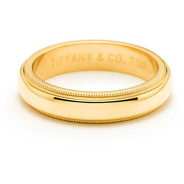 Milgrain Wedding Band Ring (3.705 BRL) ❤ liked on Polyvore featuring jewelry, rings, tiffany co rings, gold band wedding rings, gold jewelry, gold rings and 18 karat gold jewelry