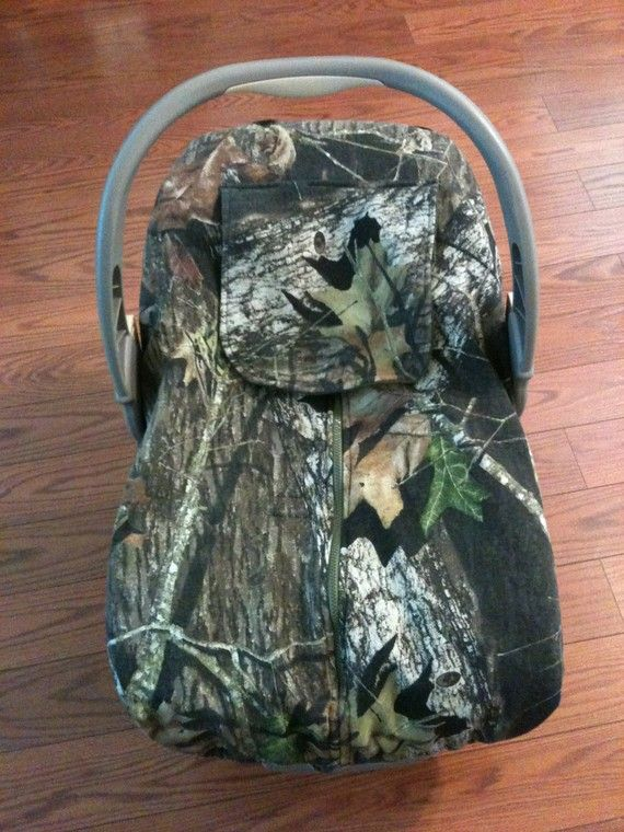 Camo Infant Carseat Cover Mossy Oak Breakup Custom Hunting Camo- WAAHHHAAA- getting this.