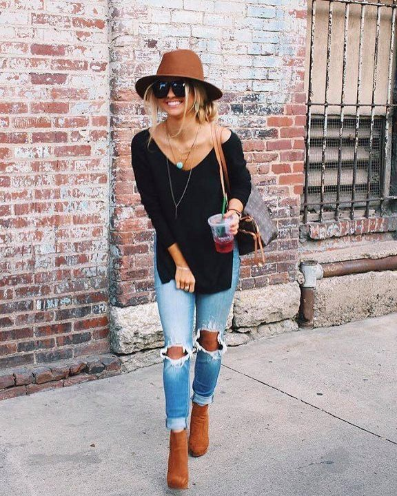 25  best ideas about Ripped Jeans Outfit on Pinterest | Teen ...
