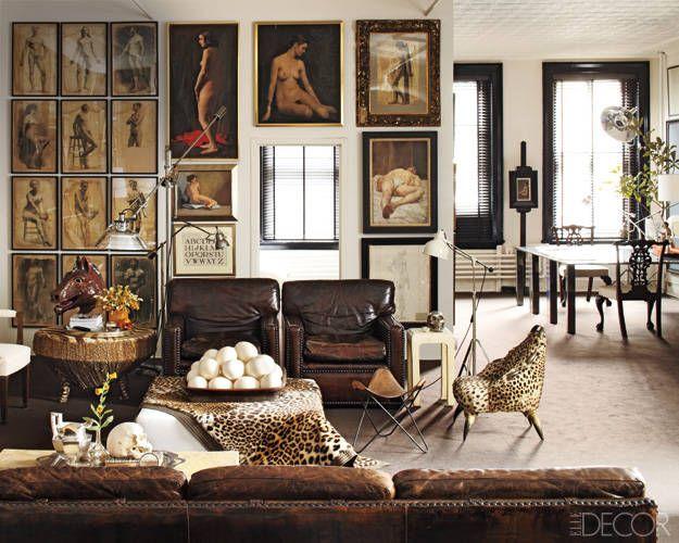 The living room of accessories designer William Frawley's Soho apartment