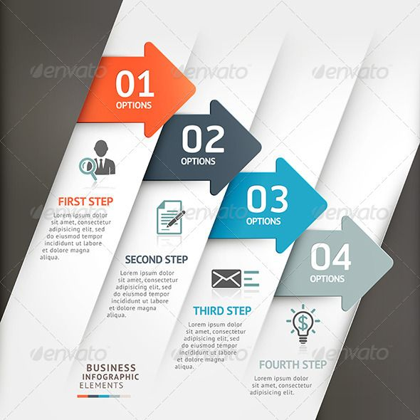 Modern Business Arrow Infographic Template - Infographics
