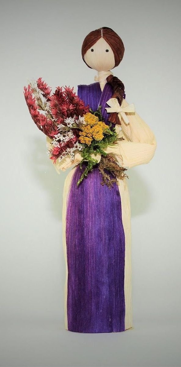 @grandmasgift Craft Art Traditional Handmade Doll with Flowers Organic Materials. Perfect Gift for Grandma. #grandma #gift #doll #amazon