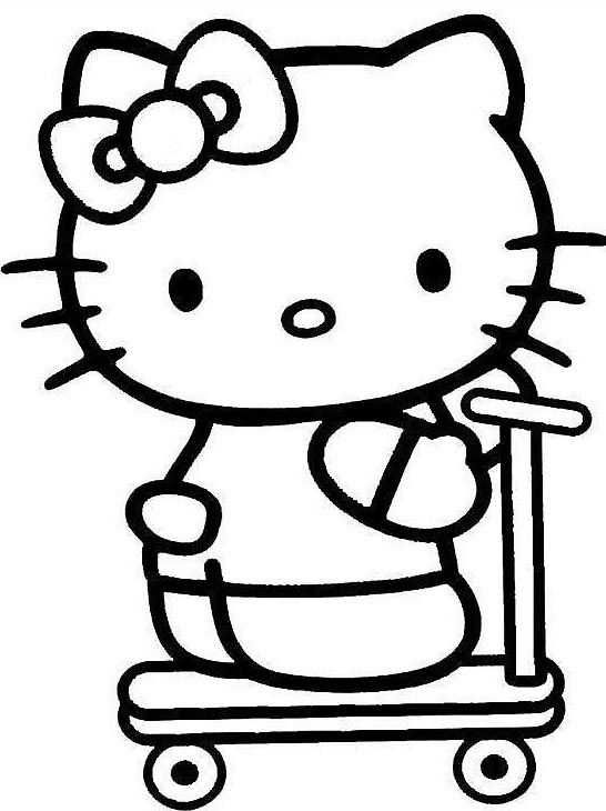 88 best Hello Kitty images on Pinterest Kitty party Coloring