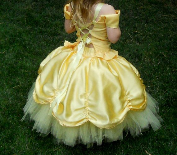 Girls Yellow Princess Tutu Fancy Dress Custom made in by DressNup, $175.00