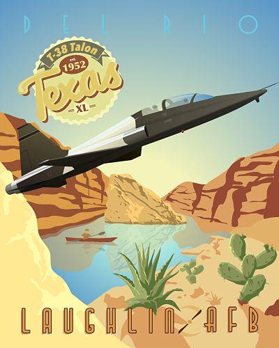 Laughlin AFB T-38 Talon Poster - flight school, undergraduate pilot training, USAF