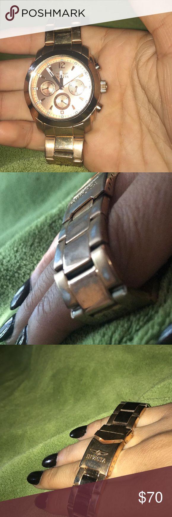 Invicta Women's Watch Needs a new battery, has slight scuffs Invicta Jewelry Bracelets
