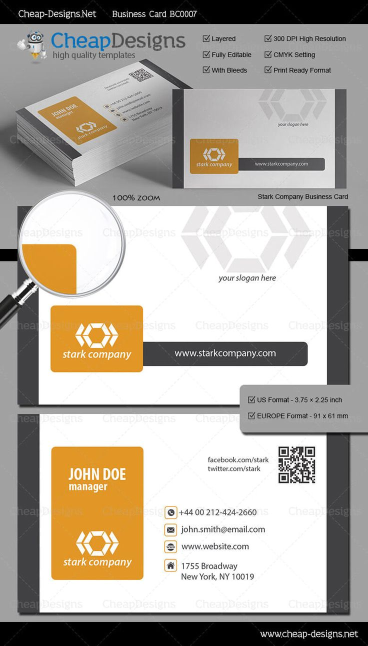 20 best great business card templates images on pinterest stark company business card template choose this template from our library then purchase and magicingreecefo Gallery