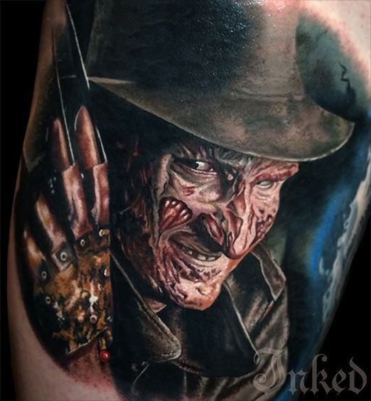 413 besten horror tattoos bilder auf pinterest. Black Bedroom Furniture Sets. Home Design Ideas