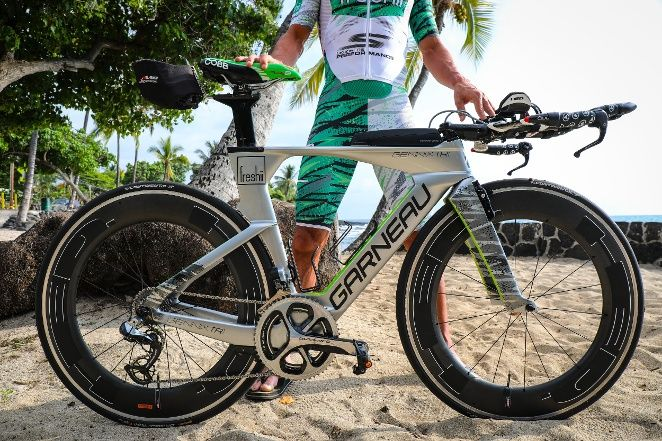 The logic between Lionel Sander's kit at the IronMan world championships in Kona