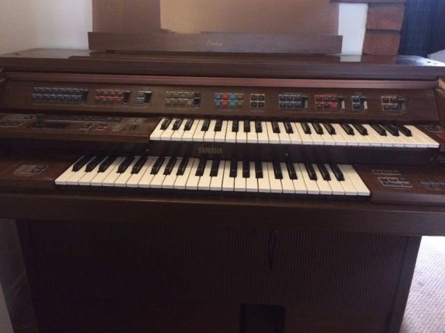 This Yamaha Electric Organ (model: FE-50) was given to us, but despite our good intentions, we just