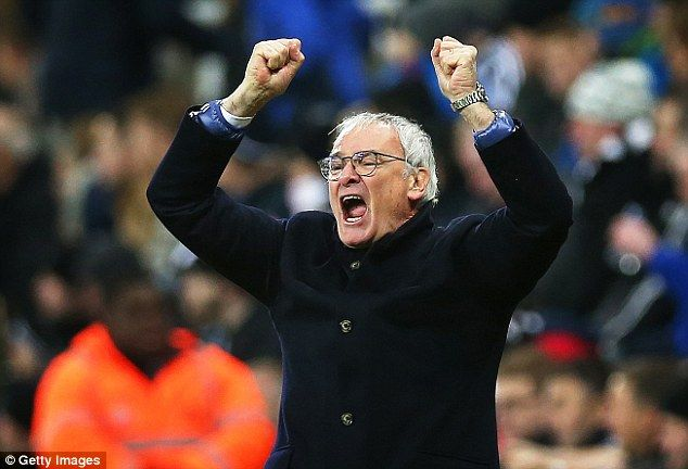 Nov. 21st. 2015: The Italian manager Claudio Ranieri has confounded the scepticism at his appointment at Leicester City and celebrates taking the club to the top of the Premier League.