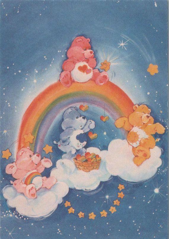 Vintage / 80s / Carebears / Care Bears / postcard