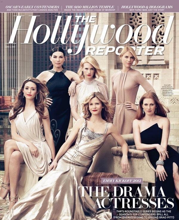 Outstanding Lead Actress in a Drama Series nominees Julianna Margulies, Claire Danes, January Jones, Mireille Enos, Emmy Rossum and Kyra Sedgwick pose for Joe Pugliese and The Hollywood Reporter.