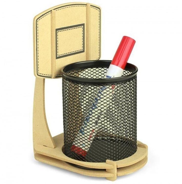 27. en bois de #basket-ball Stand #organisateur de bureau - 46 #range-tout pour garder vos #affaires en ordre... → #Lifestyle