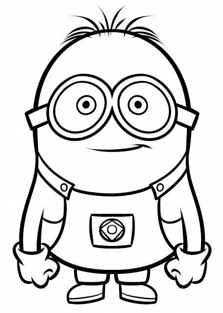 Bob minions disegni da colorare per bambini raccolta for Immagini cattivissimo me da colorare