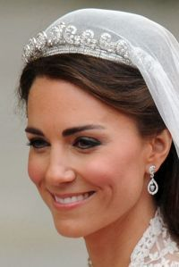 """Cartier Halo tiara"" worn by Princess Catherine on her wedding day."