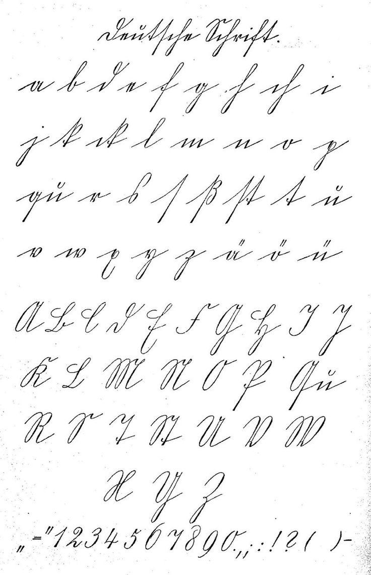 Schriftmuster - Deutsche Schrift