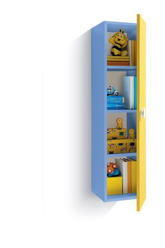 Cubolotto mensola con sportello per cameretta cm L123 - Vari colori - Verticale