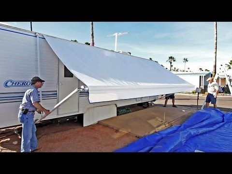 ▶ How To Replace an RV Patio Awning - YouTube
