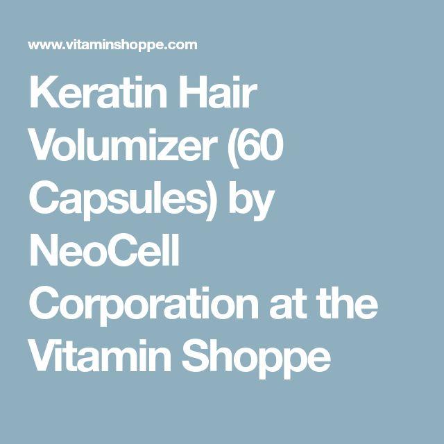 Keratin Hair Volumizer (60 Capsules) by NeoCell Corporation at the Vitamin Shoppe