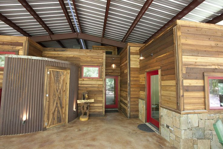 Wright built under a metal canopy in texas for Metal building ideas