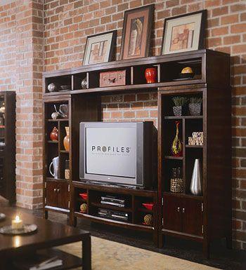 American Drew Tribecca 51 inch TV Entertainment Center Wall Unit