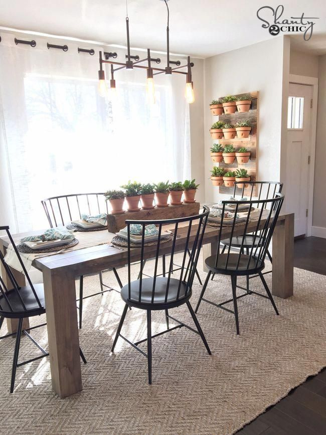 Diy Modern Farmhouse Dining Table By Shanty2chic Smallspaces