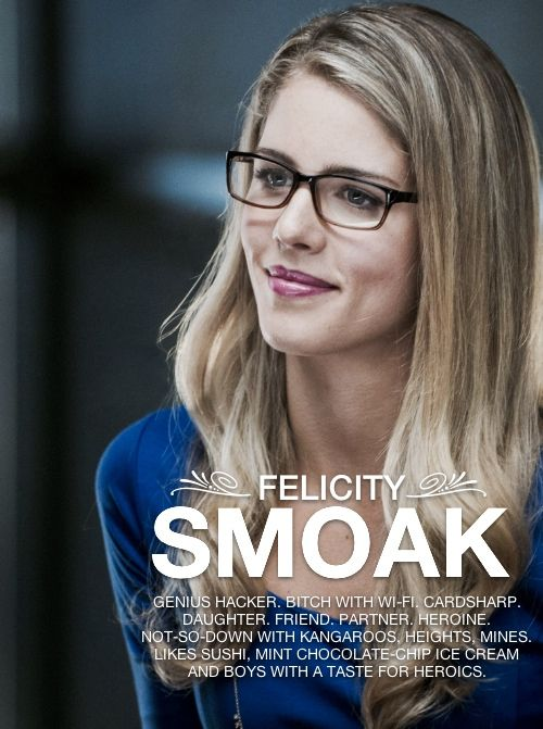 If I had to pick a superhero team member to go on a date with... Felicity Smoak hands down.