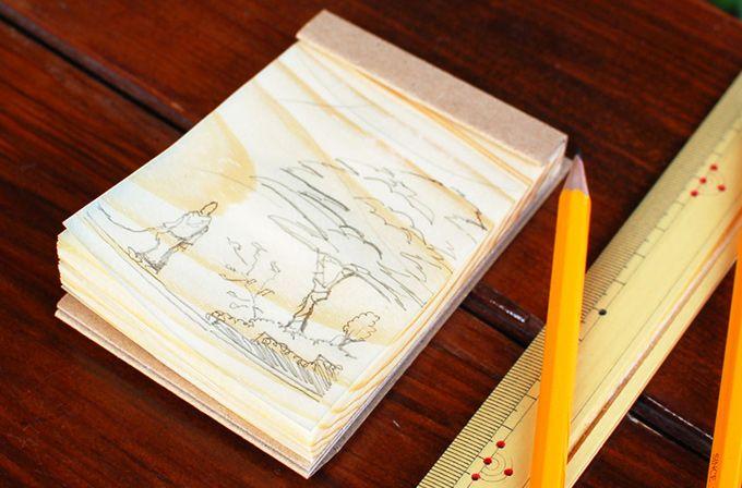 木でできた、紙ではないメモ帳。 経木のメモ帳 wood paper