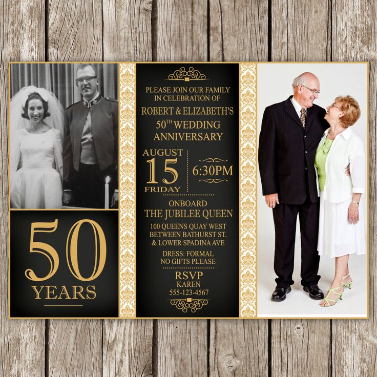 50th Anniversary Glass Picture Frame Glass