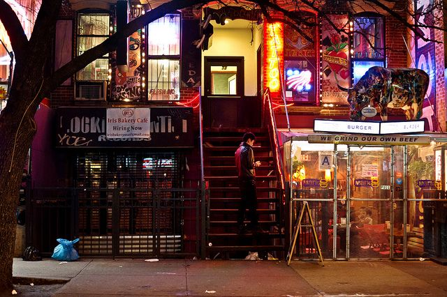 St. Marks Place at Night - East Village - New York City by Vivienne Gucwa, via Flickr