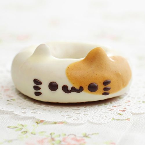 kitty donut.  @Catherine Kim, this reminded me of you (best of both worlds!). heehee.