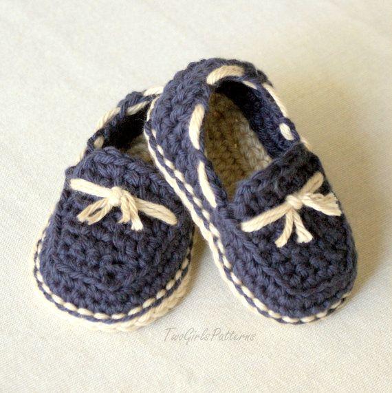 Crochet Pattern - bambino - Lil' mocassini modello super pack è dotato di tutte le 4 varianti - numero modello 120