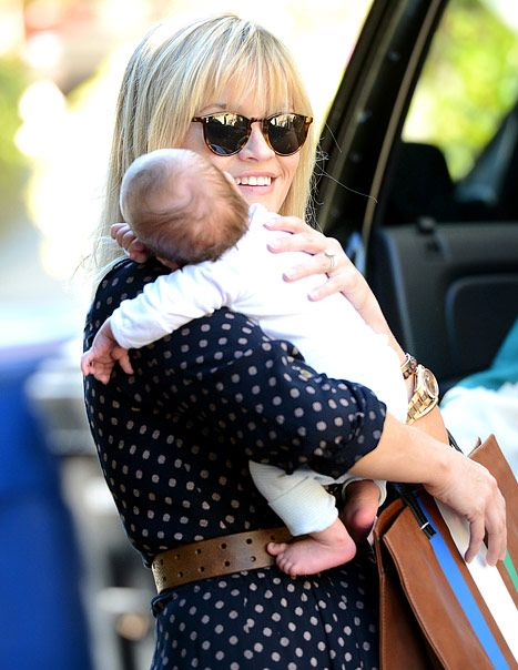 Actress Reese Witherspoon and son Tennessee James Toth are seen November 20, 2012 in Los Angeles, California.