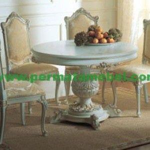 Set Meja Makan Warna Putih