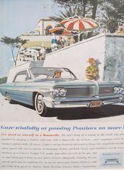 1950s Matted American Pontiac Bonneville Car Advertisement, Gaze Wistfully