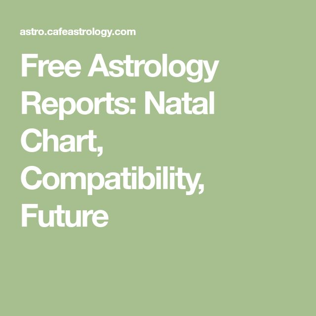 Free Astrology Reports: Natal Chart, Compatibility, Future