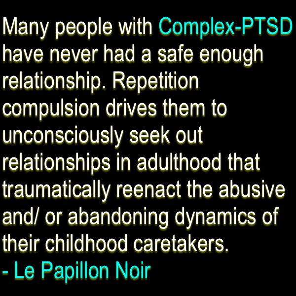 from Karter complex ptsd dating