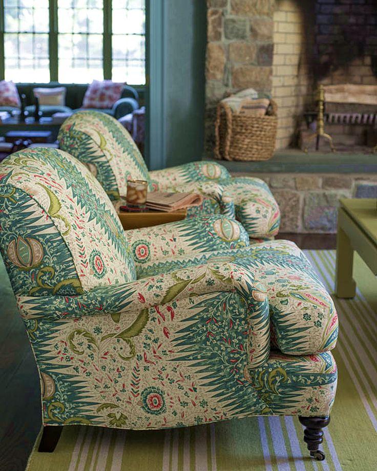 Quadrille Les Indiennes Multicolor chairs by Meg Braff