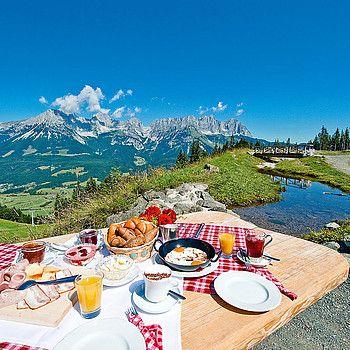 Genuss auf der Alm: SkiWelt Wilder Kaiser - Brixental, Tirol © Christian Kapfinger