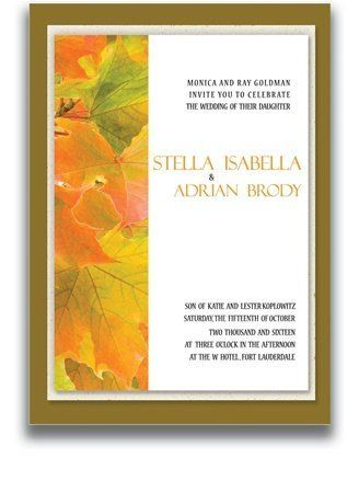 80 Rectangular Wedding Invitations - Autumn Sunrise by WeddingPaperMasters.com. $216.00. Now you can have it all! We have created, at incredible prices & outstanding quality, more than 300 gorgeous collections consisting of over 6000 beautiful pieces that are perfectly coordinated together to capture your vision without compromise. No more mixing and matching or having to compromise your look. We can provide you with one piece or an entire collection in a one stop shoppin...