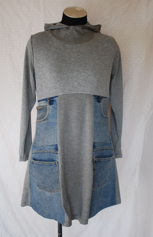 hmmm. something about this is appealing....MUPTURN DressCotton Blend t-Shirting/ Repurposed Denim
