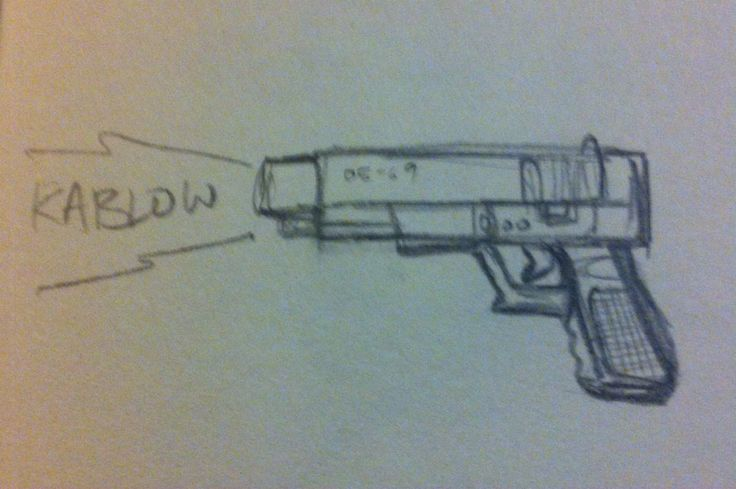 A lil gun sketch using a reference